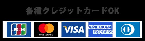 クレジットカード使用OK